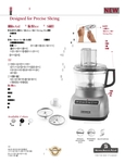 KitchenAid KFP0711 Spec Sheet