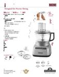 KitchenAid KFP0711 Spec Sheet