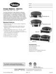 Krampouz Hatco Crepe Makers Specsheet