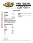 Light Corn Syrup 103CRNSYRPLT Specsheet