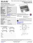 Elkay LRAD151755 Spec Sheet