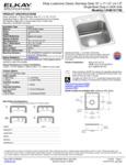 Elkay LRAD151765 Spec Sheet