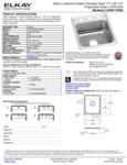 Elkay LRAD172060 Spec Sheet