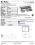 Elkay LRAD252155 Spec Sheet
