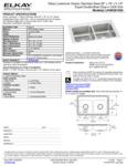 Elkay LRAD2918553 Spec Sheet