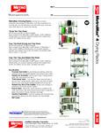 Metro MetroMax 4 Mobile Drying Racks Specsheet