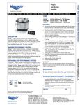Vollrath Drop-In Warmer / Rethermalizer Specs