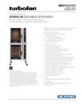 Moffat E35D6-2 Double Deck Full Size 6 Pan Convection Oven Specsheet