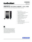 Moffat H8D-FS-UC Full Size 8 Tray Electric Holding Cabinet Touch Screen Controls Specsheet