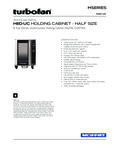 Moffat H8D-UC Half Size Size 8 Tray Electric Holding Cabinet Touch Screen Controls Specsheet