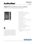 Moffat P85M12 full size 12 tray electric holding cabinet-proofer mechanical controls specsheet