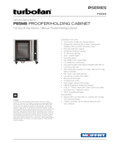 Moffat P85M8 full size 8 tray holding cabinet-proofer mechanical controls specsheet