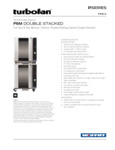 Moffat P8M/2 double stack full size 8 tray holding cabinet-proofer mechanical controls and compact width specsheet