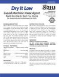 Noble Chemical Dry It Low Liquid Machine Rinse Agent Spec Sheet