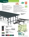 National Public Seating Stages Spec Sheet