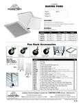 Pan Rack Accessories Spec Sheet