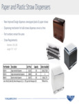 Vollrath Paper Straw Dispensers