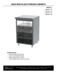 Perlick Back Bar Glass Storage Cabinets