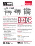 PS536E Middleby Electric Conveyor Oven Spec Sheet