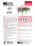 PS540E Middleby Gas Conveyor Oven Spec Sheet