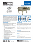 PS540G - Middleby Electric Gas Conveyor Oven Spec Sheet