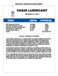 Lucas Oil Chain Lubricant Specs