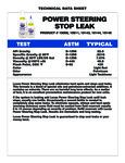 Lucas Oil Power Steering Stop Leak Specs