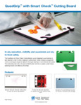 San Jamar QuadGrip with Smart Check Cutting Board Line Spec Sheet