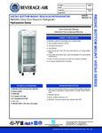 Beverage-Air RB23HC-1G Spec Sheet