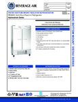 Beverage-Air RB49HC-1S Spec Sheet