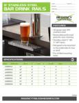 Regency Bar Drink Rails Spec Sheet