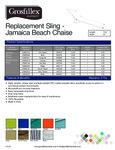 Jamaica Beach Chaise Lounge Slings