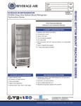 Beverage-Air RI18HC-G Spec Sheet