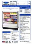 Federal High Profile Two Shelf Air Curtain Dairy Case