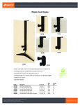 Safco Plastic Coat Hook Specsheet
