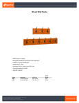 Safco Wood Wall Rack Specsheet