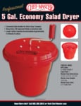 Chef Master 5 Gallon Red Salad Dryer Spec Sheet