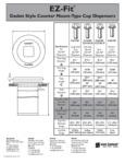 San Jamar EZFit Specs sheet