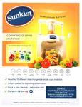 Sunkist Equipment Commercial Sectionizer Spec Sheet