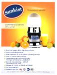 Sunkist Equipment Commercial Juicer Spec Sheet