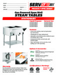 ServIt Stationary Steam Tables