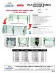 Advance Tabco Sleek Shields w/ Glass Top