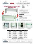 Advance Tabco Sleek Shields w/ Steel Shelf