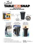 Snap Drape TS2843014 Cocktail Table-In-A-Snap Kit Specsheet
