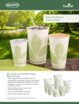 Solo & Bare by Solo Eco Forward Waxed Paper Cold Cups and Lids Specsheet