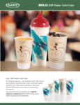 Solo DSP Paper Cold Cups Specsheet