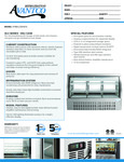 Spec Sheet for Avantco DLC64-HC-S 64 Stainless Steel Curved Glass Refrigerated Deli Case