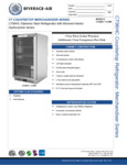 Spec Sheet for Beverage-Air CT96HC-1-S-MR Countertop Display Refrigerator