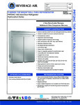 Spec Sheet for Beverage-Air PRT2-1AS Staineless Steel Solid Door Roll-Through Refrigerator