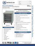 Spec Sheet for Beverage-Air WTR27AHC-25 27 Worktop Refrigerator